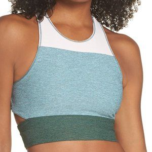 Outdoor voices tri-tone back cutout sports bra